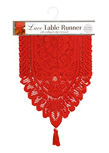Ritz Lace Table Cloth Runner, 13 by 54-Inch ()