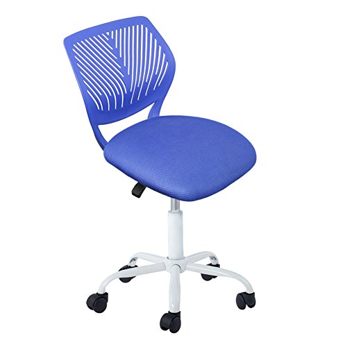 Computer Chair, IntimaTe WM Heart Mid Back Swivel Office Task Chair Teen Desk Chair Home Kids Study Chair (Blue)