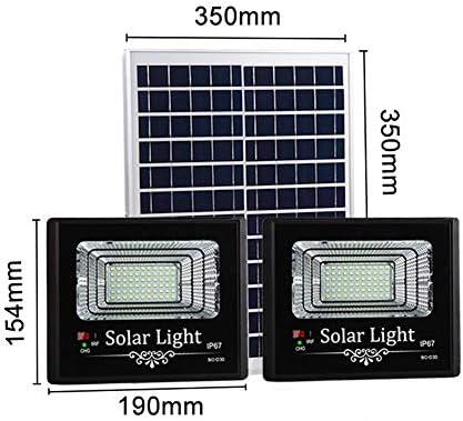 Solar Foco Proyector LED con Mando a Distancia, IP67 a Prueba de Agua Home Road Solar Luces de Seguridad, Exterior Luces Solares de La Calle con Exhibición de Batería (Color : 200W*2):