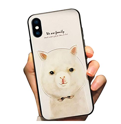 BONTOUJOUR iPhone Xs Maxs Max Cover Case Super Cute Cartoon Animal Pattern Hard PC Back Soft TPU Silicon Cover For Girls...