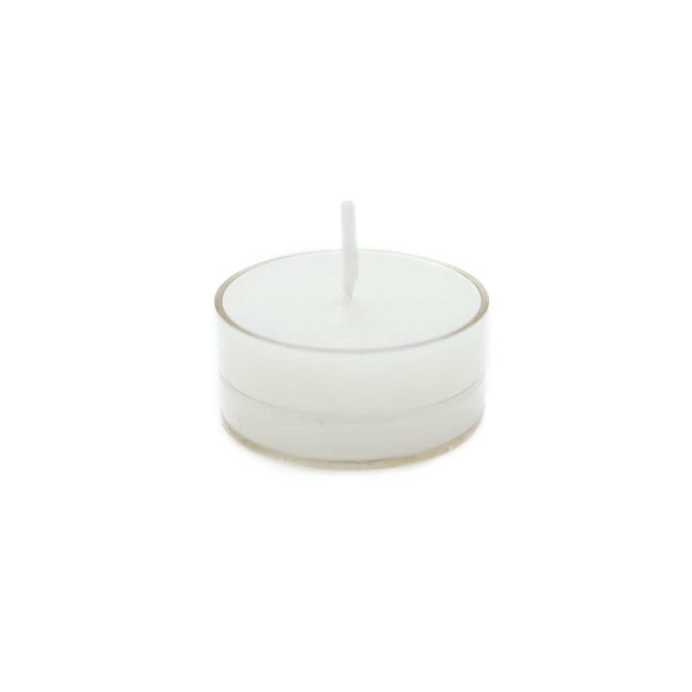 Zest Candle CTZ-003_12 600-Piece Tealight Candle Clear, White