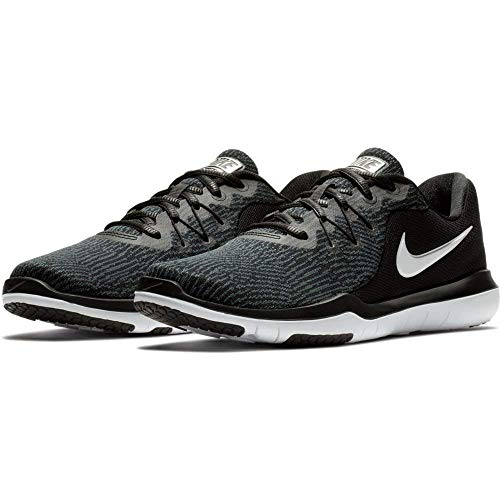 Nike Womens Flex Supreme tr 6 Low Top Lace up Running Shoe (7 B(M) US, Black/White-Anthracite)