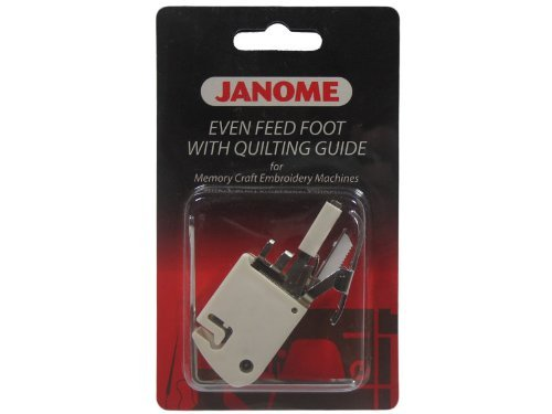 Janome Memory Craft Embroidery Machine - Even Feed Foot with Quilt Guide