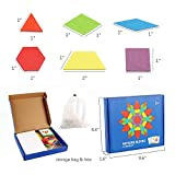 GEMEM 155 Pcs Wooden Pattern Blocks Set Geometric
