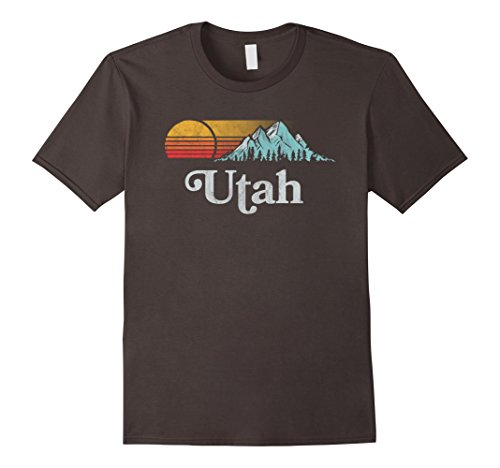 Utah Vintage Mountain Sunset Eighties Retro Graphic Tee