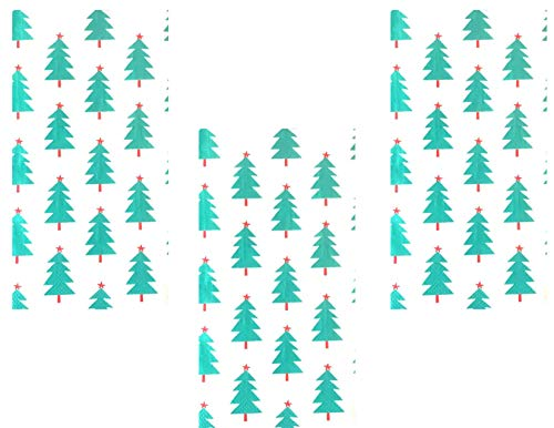 Christmas Holiday Theme Turquoise Trees Disposable Guest Towels - 3 Pack - 48 Total