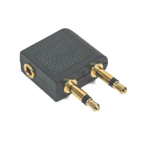 3.5 mm Airplane Airline Travel Headphone Jack Audio Adapter High Quality