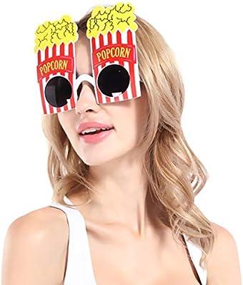 Amosfun 2 Piezas Gafas de Fiesta de Palomitas de Maíz Disfraz de Fiesta para Adultos Niños: Amazon.es: Hogar