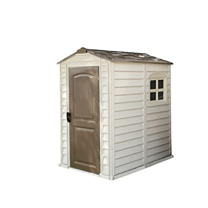 Amazon.com : The Log Cabin Plastic Shed   Roof Size 4 X 6 : Garden U0026 Outdoor