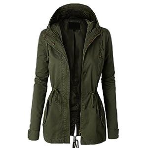 LE3NO Womens Military Anorak Safari Jacket