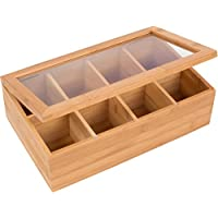 Trademark Innovations Bamboo 8 Section Storage Features