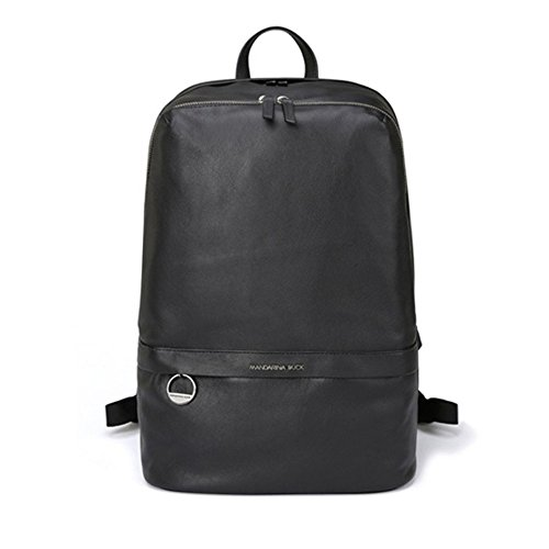 MANDARINA DUCK DUPLEX 2.0 NGT12 Casual Backpack,School Bag Navy & Free Gift (Key Ring) (BLACK) by Mandarina Duck