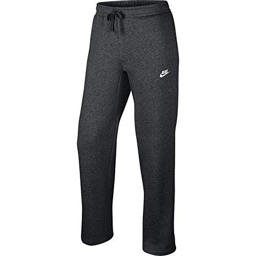 Pantaloni sportivi da uomo Nike Open Hem Fleece Club grigio antracite / bianco 804395-071 taglia 3X-Large