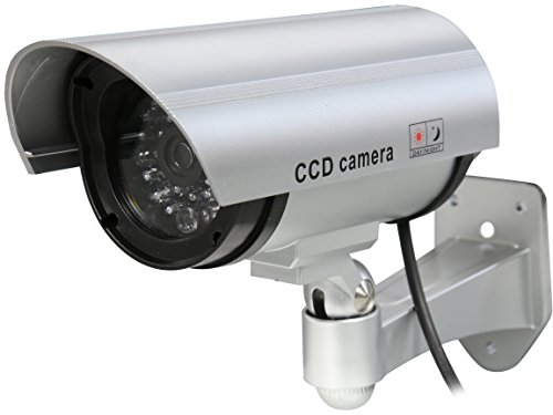 Rosewill Fake Security Surveillance CCTV Dummy Camera, with LED Light & Warning Security Alert Sticker