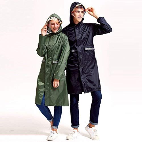 Uomo Uomo Uomo Unisex Donna Poncho Semplice Blue Rain Antivento Stile Outdoor Navy Rainwear Fashionlook Viaggi Jacket Escursionismo Impermeabile rr4xpw