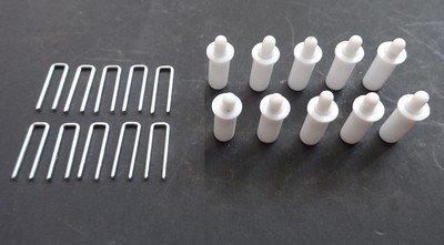 Louver Kit (PLANTATION SHUTTER REPAIR KIT : 10 Tilt Rod Louvers Staples + PLUS + 10 Spring Loaded Shutter Pins)