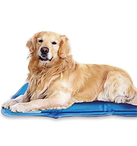 The Green Pet Shop Dog Cooling Mat- Patented Pressure-Activated Cool Gel Pad for Your Dogs and Pets - Help Your Pet Stay Cool This Summer - Chilled Relief to Avoid Overheating, Ideal for Home & Travel, Large