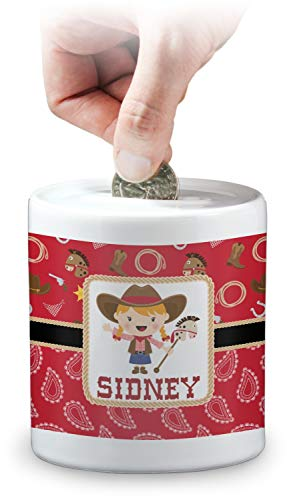 YouCustomizeIt Red Western Coin Bank (Personalized) -