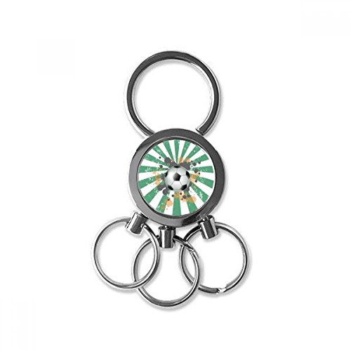 Radial Soccer Football Sports Stainless Steel Metal Key Chain Ring Car Keychain Keyring Clip Gift (Clip Radial)
