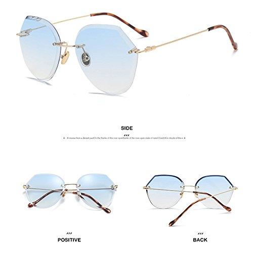 Blue Películas De Caja Estados Gafas Océano De Corte Europa Marco Unidos Sin Gafas Gradiente De Femeninas Blue Las Sol Cristalino Y Sol Gran De Bxd4qwxv