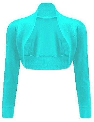 Basic Lunga Generic Turquoise Coprispalle Aperto Donna 6naq5aw