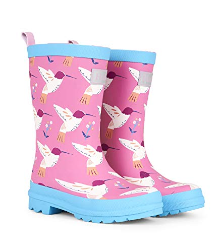 - Hatley Girls' Toddler Graceful Hummingbirds Matte Rain Boots, 7 US Child