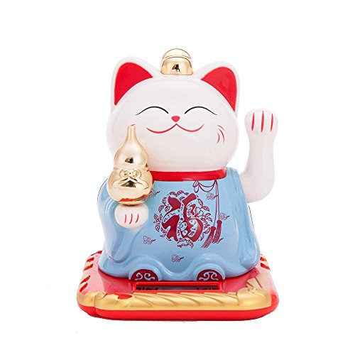 Solar Powered Bobblehead Toy Figure Nohohon, Lucky Cat 066