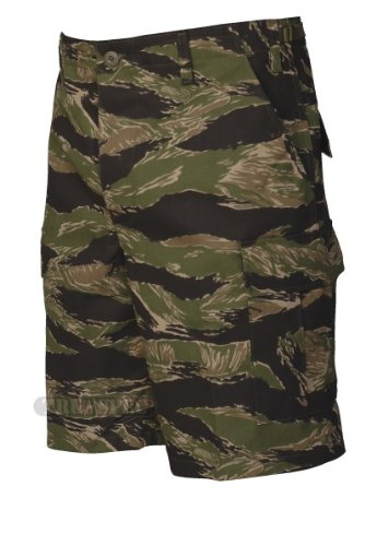 Tru-Spec BDU Shorts Cotton Tiger Stripe Green S 4219003