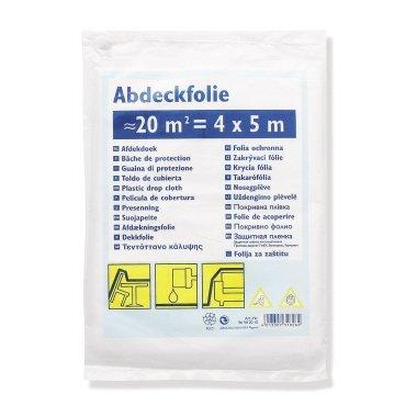 8x 4x5m Folie / Abdeckfolie 7mµ - insgesamt 160 qm (Grundpreis pro m² = 0,06 €)