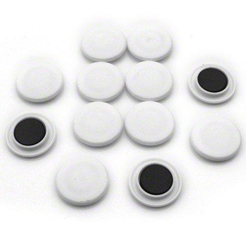 first4magnets F4/M30ND2-BLACK-2/ad alta potenza bacheca magnetica p Confezione da 2 40 mm diametro x 8 mm alto colore: nero White