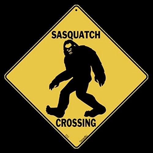 SASQUATCH-Bigfoot- Silhouette Crossing Sign-12