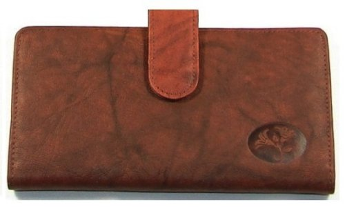 Buxton Heiress Pik Me Up - Checkbook & Credit Card Holder Wallet, Mahogany ()