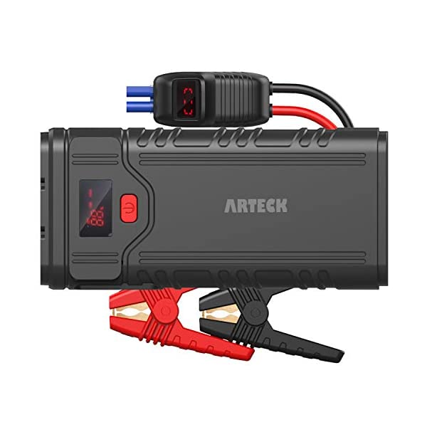 Arteck 2000A Peak Portable Car Jump Starter (Up to 9.0L Gas or 8.0L Diesel Engine)...
