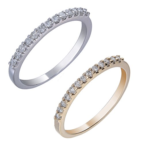 1/5 cttw Pave Diamond Wedding Band in 14k White Gold