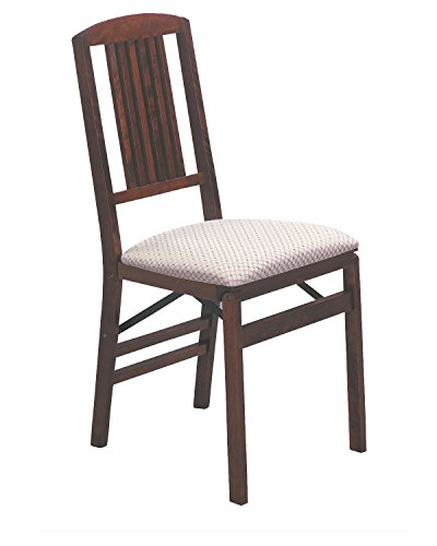 Stakmore Simple Mission Folding Chair Finish, Set of 2, Cherry Cherry Mission Folding Chair