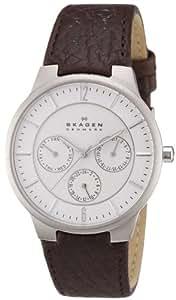 Skagen Men's 331XLSL1 Jonas Quartz/Multi Stainless Steel Dark Brown Watch