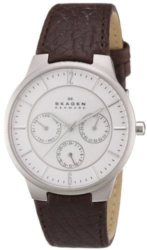 Skagen Men's 331XLSL1 Jonas Dark Brown Leather Watch
