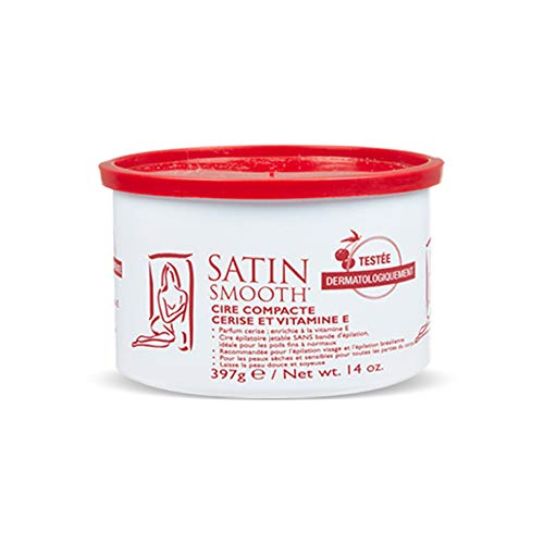 Satin Smooth Wild Cherry Hard Hair Removal Wax with Vitamin E 14oz. (Wild Wax)