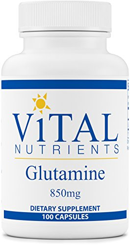 Vital Nutrients Glutamine 850 mg Gastrointestinal and Immune Support 100 Vegetarian Capsules