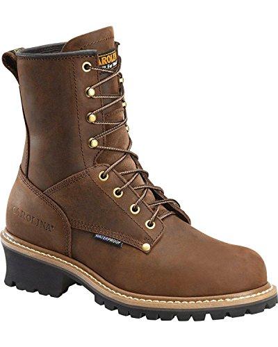Carolina Boots: Men's 8 Inch Waterproof Logger Boots CA8821 - 7EE (Carolina Mens Safety Boots)