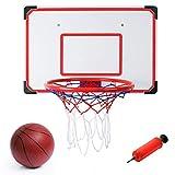 """Indoor/Outdoor XL Big Basketball Hoop Set - 27"""" x 18"""" Backboard + 15"""""""