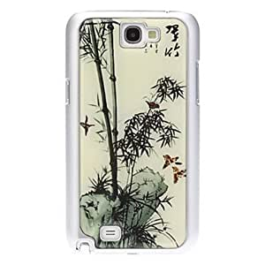 DUR High Quality Bamboo Pattern Hard Case for Samsung Galaxy Note2 N7100