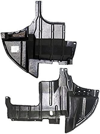 Engine Splash Shield Set of 2 compatible with 2005-2006 Mitsubishi Outlander Limited Under Cover Right and Left Side