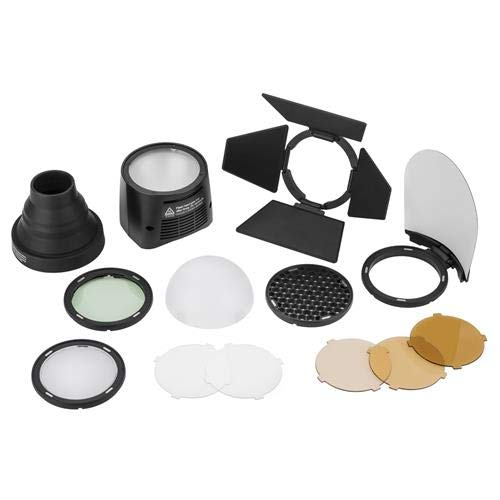 Flashpoint eVOLV 200 Round Flash Head with Accessory Kit (Replacement for Godox H200R & AK-R1)