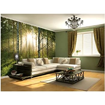Amazoncom 1Wall Summer Forest Wall Mural 315 x 232 mm Home
