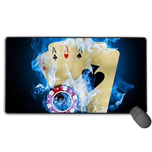 GGlooking Mousemat Poker Cards Mouse Pad Gaming Mat Computer Mousepad Large Non-Slip Keyboard Desk Accessories,Office & School Supplies ()