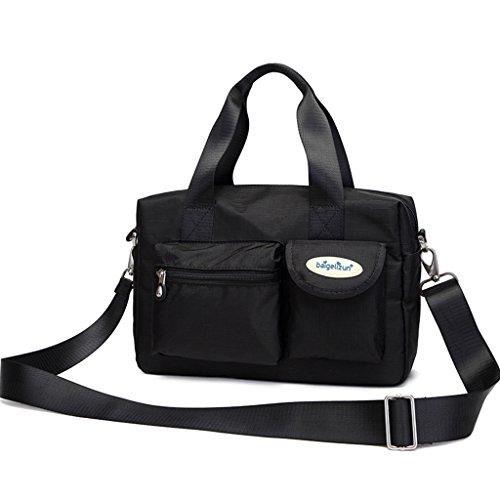 Bolso de la momia Bolso de la bolsa del mensajero Bolso de la madre de la Multi - Función Madre - Paquete del bebé Paquete de la mujer embarazada hacia fuera Paquete ( Color : Negro ) Negro