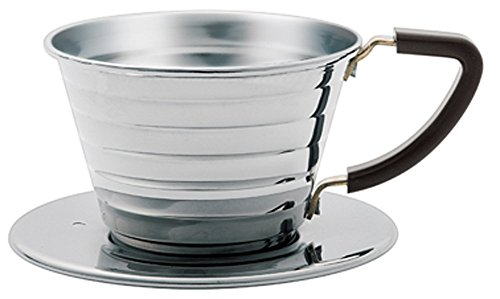 Kalita # 04021 Stainless Steel Wave 155 Coffee Dripper -