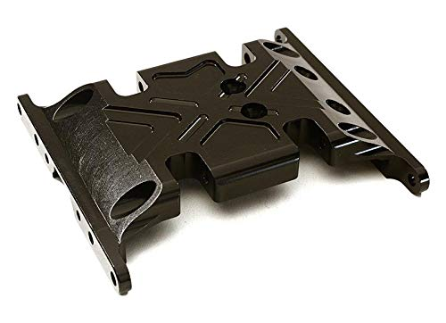 Savage Center Skid Plate - Integy RC Model Hop-ups OBM-1209BLACK CNC Machined Center Gear Box Mount Skid Plate for Axial 1/10 SCX-10 Crawler