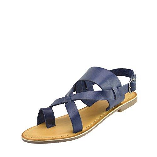 Verano Azul Color Confort Cuero marino Kick Calzado Sandalias Mujer HAx6E6